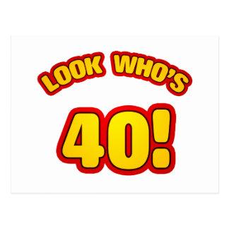 40.os presentes de cumpleaños de la diversión tarjetas postales