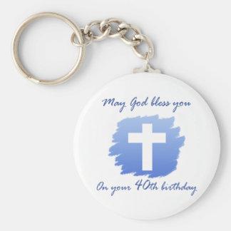 40.os regalos de cumpleaños del cristiano llaveros