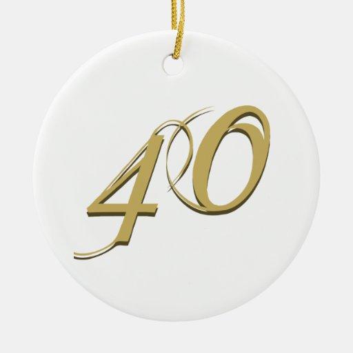40.os regalos de cumpleaños del oro adornos