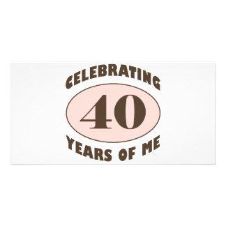 40.os regalos de cumpleaños divertidos tarjeta fotográfica
