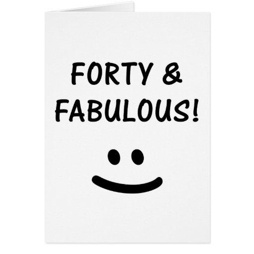 40.os regalos de cumpleaños divertidos tarjeta de felicitación