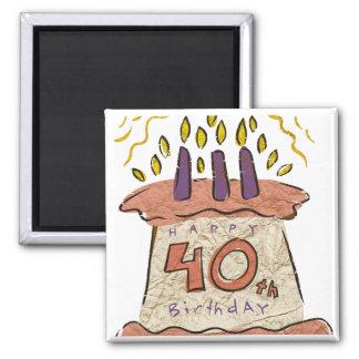 40.os regalos de cumpleaños felices imán cuadrado
