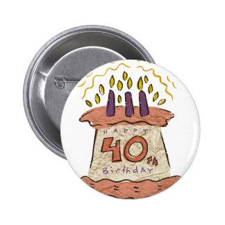 40.os regalos de cumpleaños felices pin redondo 5 cm