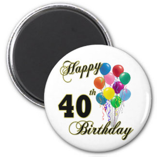 40.os regalos de cumpleaños y ropa felices del cum imán redondo 5 cm