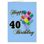 40.os regalos de cumpleaños y ropa felices del cum tarjeta
