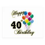 40.os regalos de cumpleaños y ropa felices del cum postales