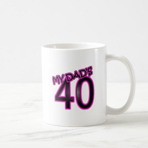 40.os regalos del cumpleaños del papá taza
