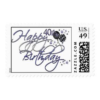 40.os sellos felices del cumpleaños