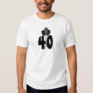 40 Over the Hill (black balloons) T-Shirt