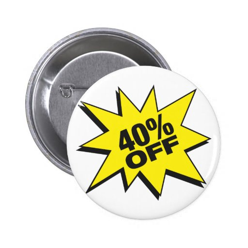 40 Percent Off Button