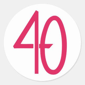 40 Pink Sticker