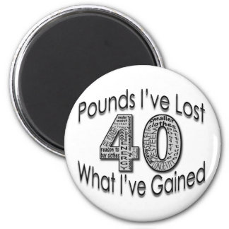 40 Pounds Lost Magnet