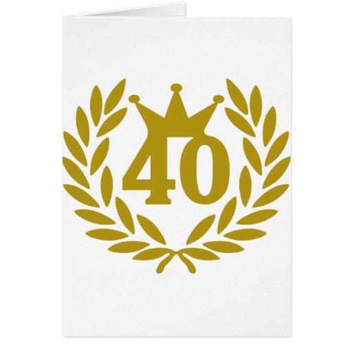 40-real-laurel-crown greeting card