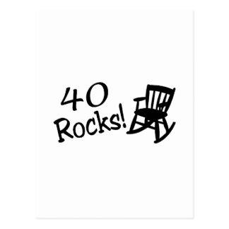 40 rocas (mecedora negra) postales