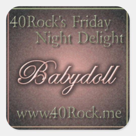 40 Rock Babydoll Stickers