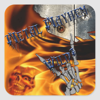 40 Rock Metal Mayhem Stickers