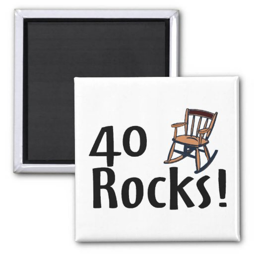 40 Rocks 2 Inch Square Magnet
