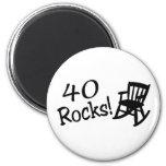 40 Rocks (Black Rocking Chair) 2 Inch Round Magnet