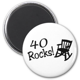 40 Rocks (Black Rocking Chair) Magnet