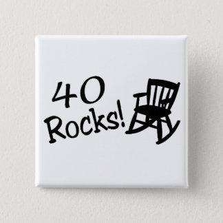 40 Rocks (Black Rocking Chair) Pinback Button