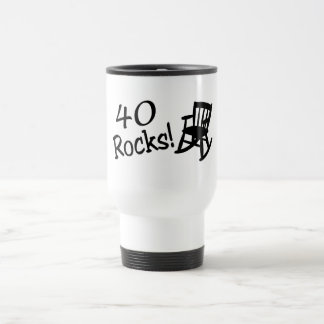 40 Rocks (Black Rocking Chair) Travel Mug