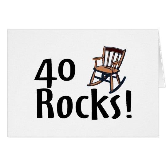 40 Rocks Card