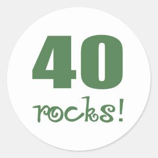 40 Rocks! Classic Round Sticker