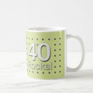 40 Rocks! Classic White Coffee Mug