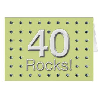 40 Rocks Greeting Cards