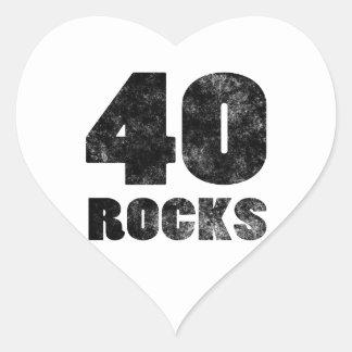 40 Rocks Heart Sticker