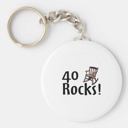 40 Rocks Keychain