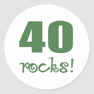 40 Rocks! Round Stickers
