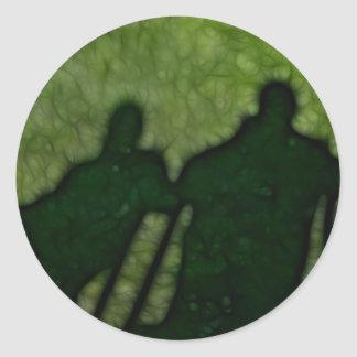 40 - Shadow People Classic Round Sticker