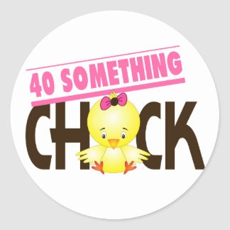40-Something Chick 1 Stickers