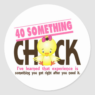 40-Something Chick 2 Stickers