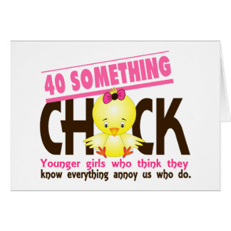 40-Something Chick 3 Greeting Card