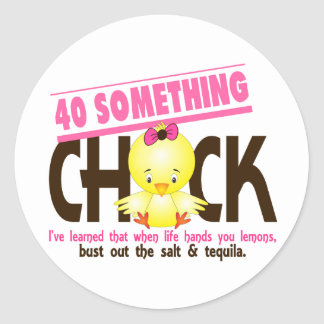 40-Something Chick 4 Stickers