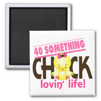 40-Something Chick 6 2 Inch Square Magnet