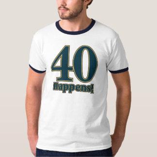 40 sucede - AZUL Remeras