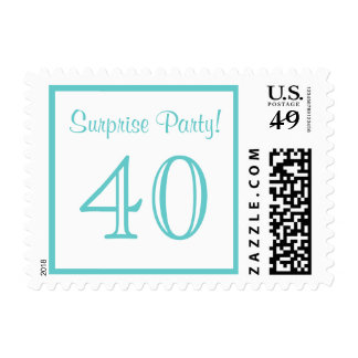 40 Surprise Party Postage