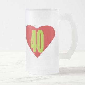 40 TAZA CRISTAL MATE