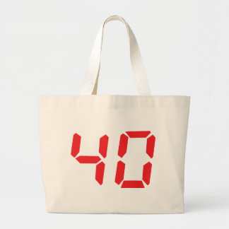 40 thirty-fourty red alarm clock digital number canvas bags