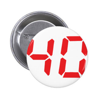 40 thirty-fourty red alarm clock digital number pin