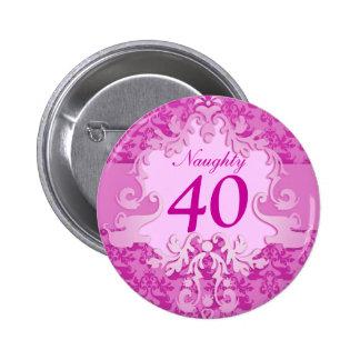 """""""40"""" travieso botón/insignia del elefante del pin redondo de 2 pulgadas"""