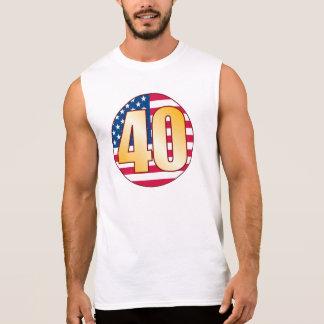 40 USA Gold Sleeveless Shirt