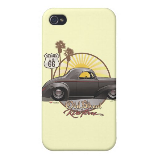40 Willy's Old Skool Kustom Covers For iPhone 4