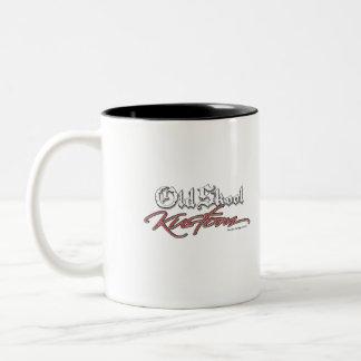 40 Willy's  Old Skool Kustom route 66 Two-Tone Coffee Mug