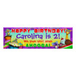"""40""""x12"""" GiggleBellies Cupcakes B-Day Banner Poster"""