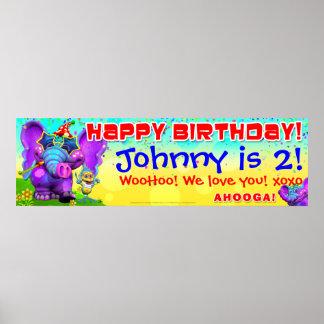 40 x12 GiggleBellies Peanut Birthday Star Banner Print