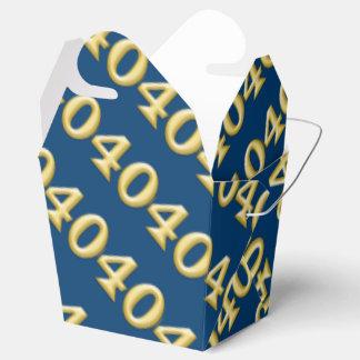 40 y cumpleaños azul fabuloso del oro caja para regalos